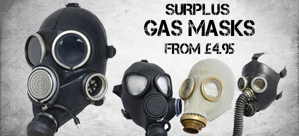 Surplus Gas Mask Sets ideal for Halloween Costumes