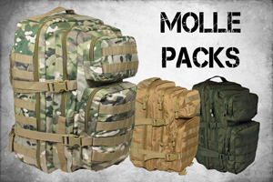 Modern Molle Assault Packs and Bags