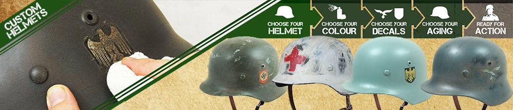 WW2 German Custom Helmets