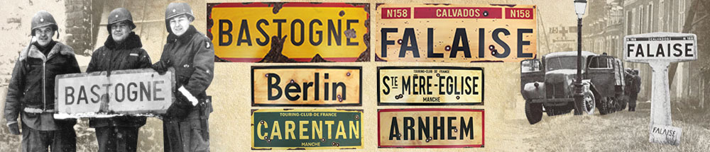WW2 Road Signs