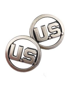 US EM and Officer Collar Discs