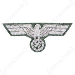 WW2 German Army M1943 Silver Bullion Breast Eagle
