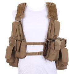 12 Pocket Coyote Tactical Vest Thumbnail