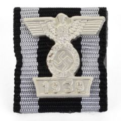 1914 Iron Cross 2nd Class Medal Ribbon with 1939 Spange