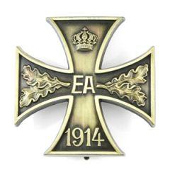 1918 War Merit Braunschweig Cross 1st Class Pin Back Thumbnail