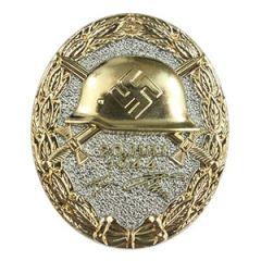 Gold 1944 German Wound Badge Thumbnail