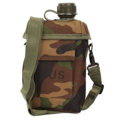 2 Litre Patrol Canteen with Cover and Strap - Woodland