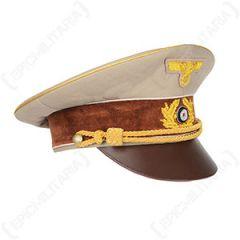 WW2 German Hitler Visor Cap - Khaki