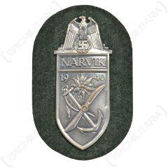WW2 German Narvik Shield Silver Main