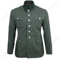 German Army Officers Gabardine Wool Tunic - Front