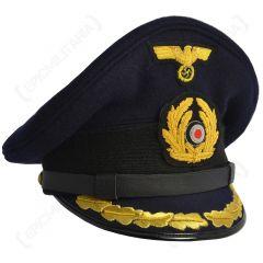 Kriegsmarine Field Grade Officer Visor Cap