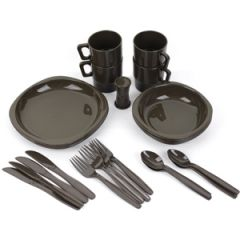 26 Piece Camping Dinner Set - Olive Drab Thumbnail