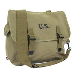 Stamped US M1936 Musette Bag and Strap - Olive Drab