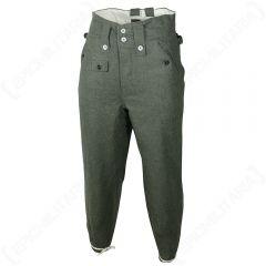 WW2 German M43 Field Grey Wool Trousers