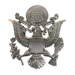 US Army Officer Visor Cap Badge