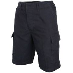 Prewashed Moleskin Shorts - Black