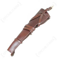 Back of brown leather US M1 Carbine Leather Holster