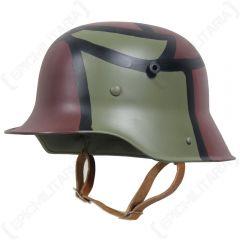 WW1 German M16 Helmet - 2 Colour Camo Main
