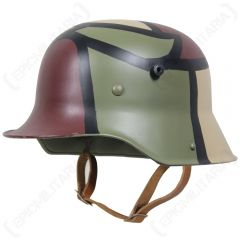 WW1 German M16 Helmet - 3 Colour Camo