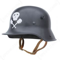 WW1 German M16 Helmet - Skull and Grenades