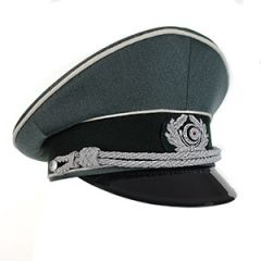 WW2 German Officers Visor Cap by Erel without Insignia