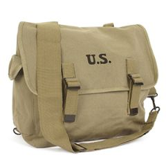 US M1936 Musette Bag and Strap - Khaki
