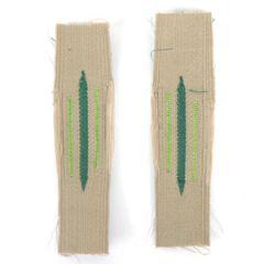 Gebirgsjager Bevo Litzen Collar Tabs - Light Green