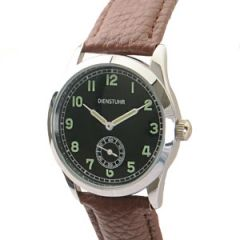 German Army Service Watch with Brown Strap