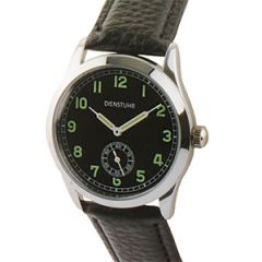 German Army Service Watch with Black Strap