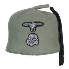 WW2 Waffen SS M43 Fez - Field Grey