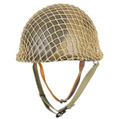 US M1 Helmet with Liner - Refurbished - 2 Colour Camo with Net
