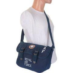 RAF Canvas Shoulder Bag - Blue