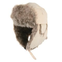 Fur and White Canvas Hats