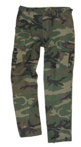 BDU Woodland Camo Rip Stop Trousers
