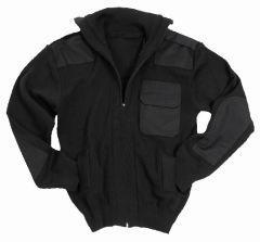 Black Army Style Cardigan