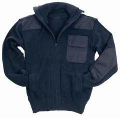 Navy Blue Army Style Cardigan