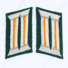 WW2 German Army Officer Collar Tabs (Police Orange)