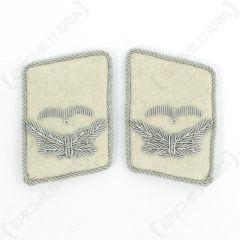 Luftwaffe HG Division Leutnant Collar Tabs - White