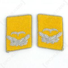 Luftwaffe Flieger Division Leutnant Collar Tabs - Yellow
