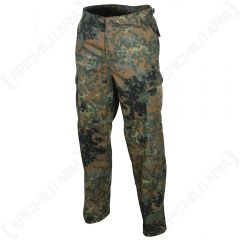 US Ranger BDU Trousers - Flecktarn Camo