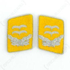 Luftwaffe Flieger Division Oberleutnant Collar Tabs - Yellow