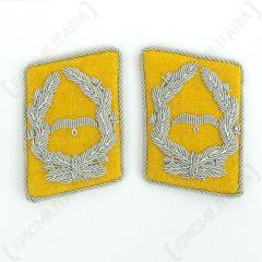 Luftwaffe Flieger Division Major Collar Tabs - Yellow