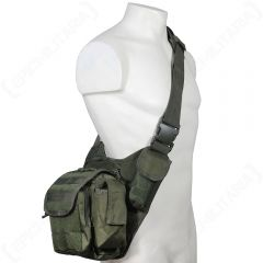 Olive Green MOLLE Shoulder Pack