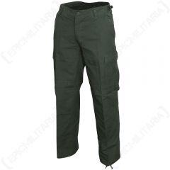 Womens US BDU Field Trousers - Olive Green