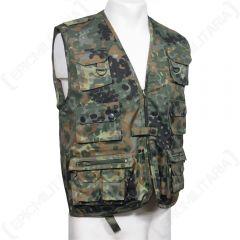 Hunting and Fishing Vest - Flecktarn