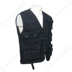 Hunting and Fishing Moleskin Vest - Black