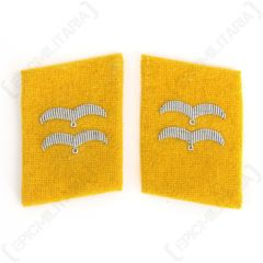 Luftwaffe Flieger Division Gefreiter Collar Tabs - Yellow main