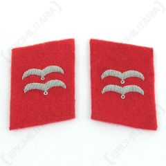 Luftwaffe Flak Division Gefreiter Collar Tabs - Red main