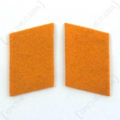 Luftwaffe Field Police Division Collar Tabs - Orange