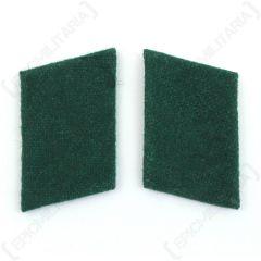 Luftwaffe Field Division Collar Tabs - Green